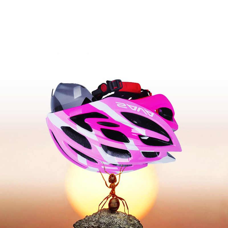 Шлем SAVA, велосипедный шлем для женщин, велосипедный шлем с солнцезащитными очками, велосипедные шлемы для девушек, розовый, регулируемый