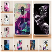 Soft Silicone For Alcatel 1C Case Cover Painting For Alcatel 1C 5009A 5009D Phone Cases Pattern Matte Flower Fundas Capas(China)