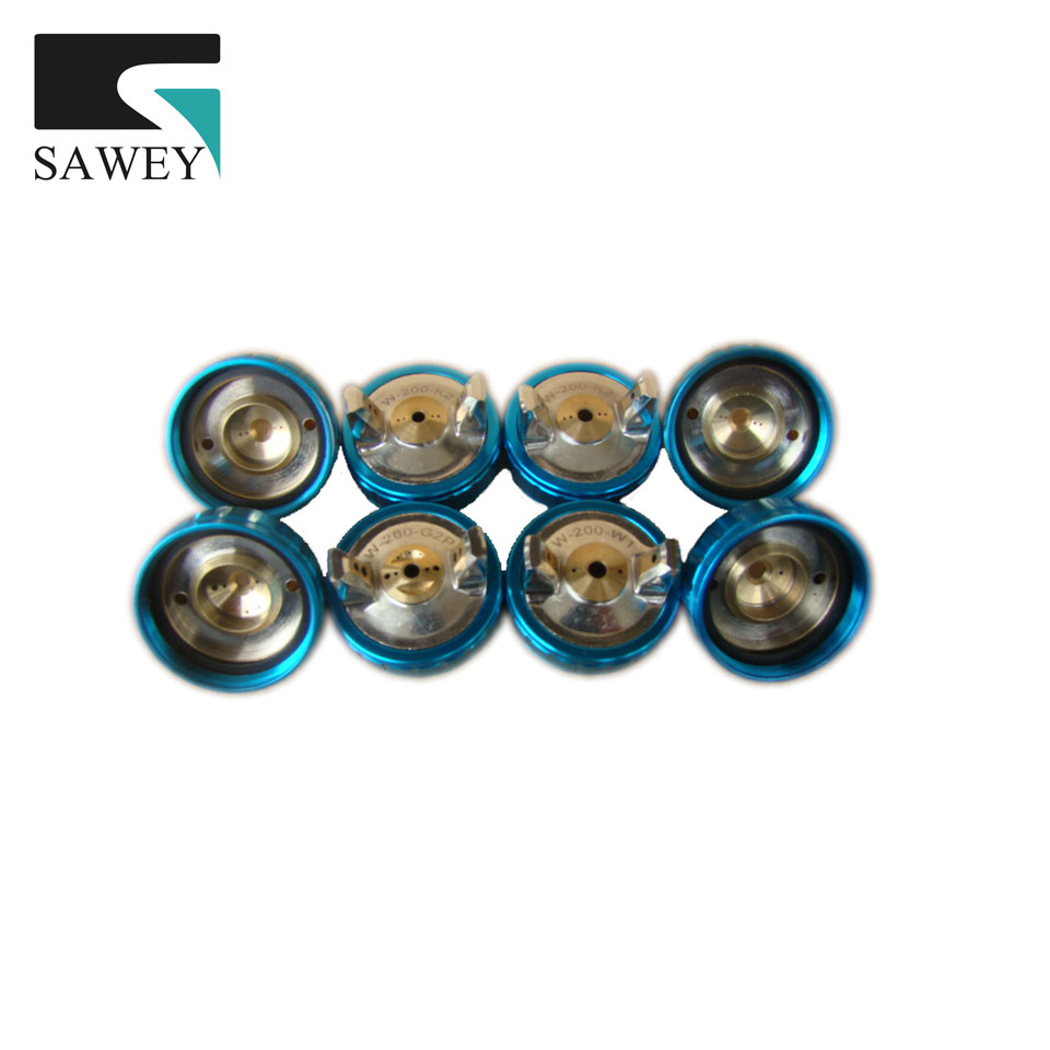 SAWEY air cap G2P/ K2 / R2 / W1 / G2 for WA-200,LRA-200,WRA-200,W-200 spray gun atomization cap hat, painting tool Free shipping high quality anest iwata air cap r2 for spray gun w 200and spray gun wa 200 pneumatic tools painting tools r2