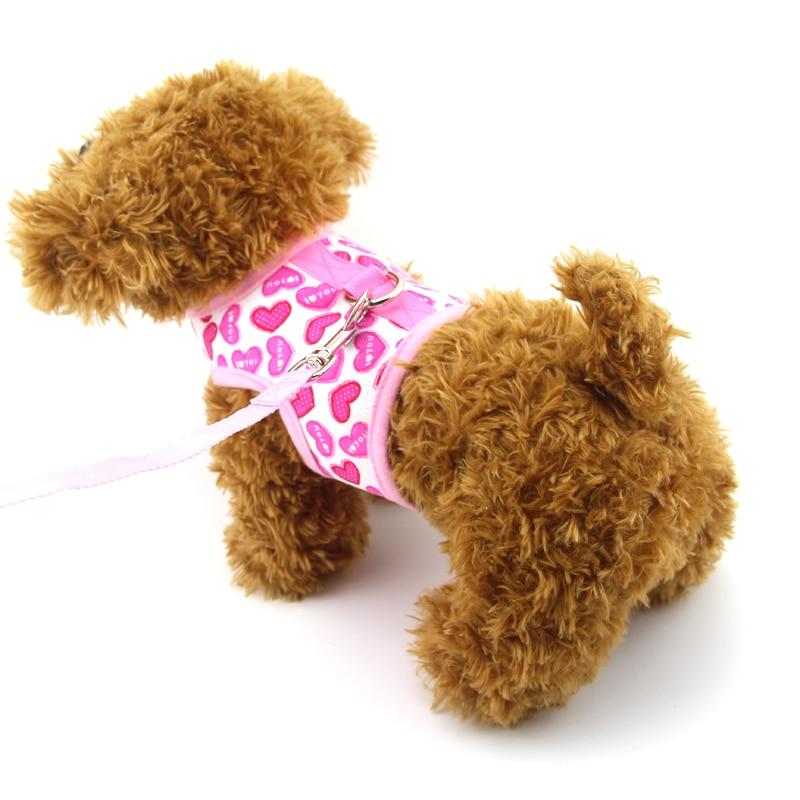 Justerbar blød åndedræt Harness AIR Mesh Vest Harness bånd til hunde Puppy Cat Collar Kæledyr Brystrem Chihuahua Teddy