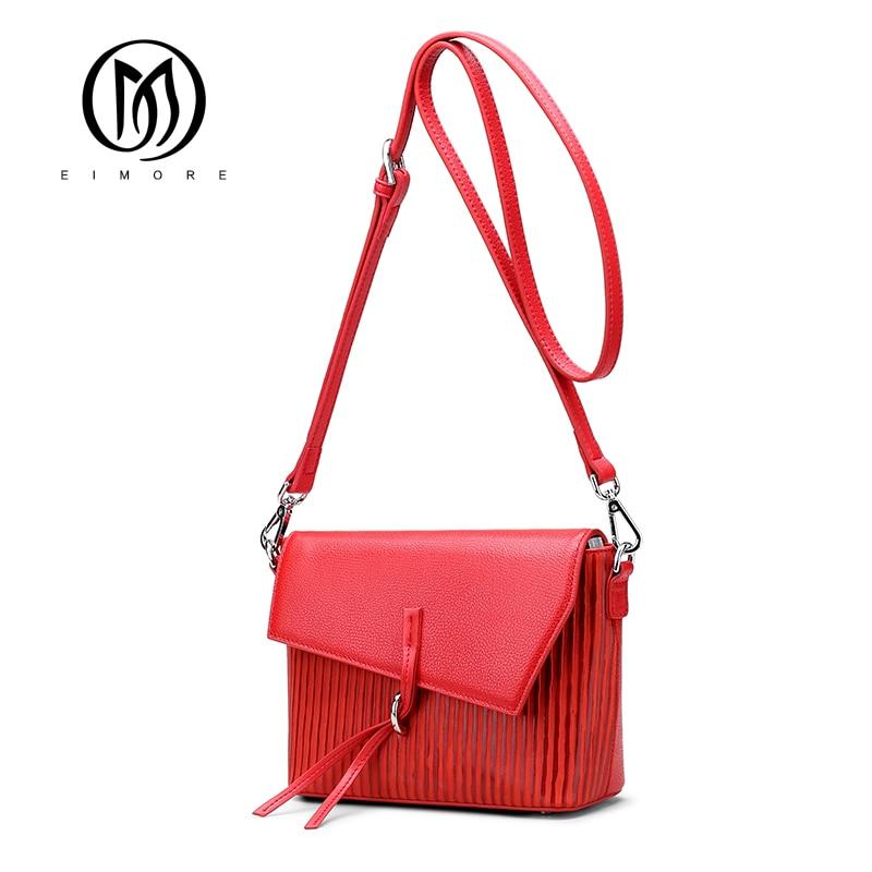 EIMORE Bags for Women 2018 Women Messenger Bags Genine Leather Small Crossbody Bags Female Fashion Cute Mini Tassel Shoulder Bag