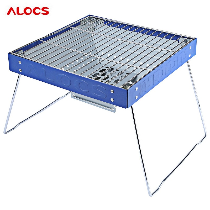 ALOCS Portable Barbecue Grill Outdoor Stove for Outdoor Activity for Outdoor Activity Camping Equipment BBQ Grill Charcoal Grill чайник походный alocs love road off cw k04 alocs cw k04 pro
