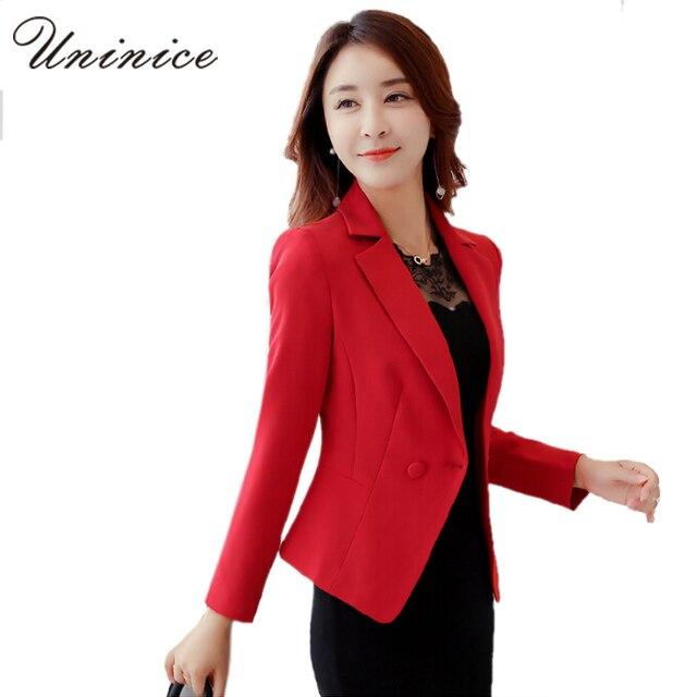 acb8948ce 2016 New Blazers Women Jackets Solid High Quality Blazer Women blazer Coat  OL style One Button Outerwear Short Blazer Women