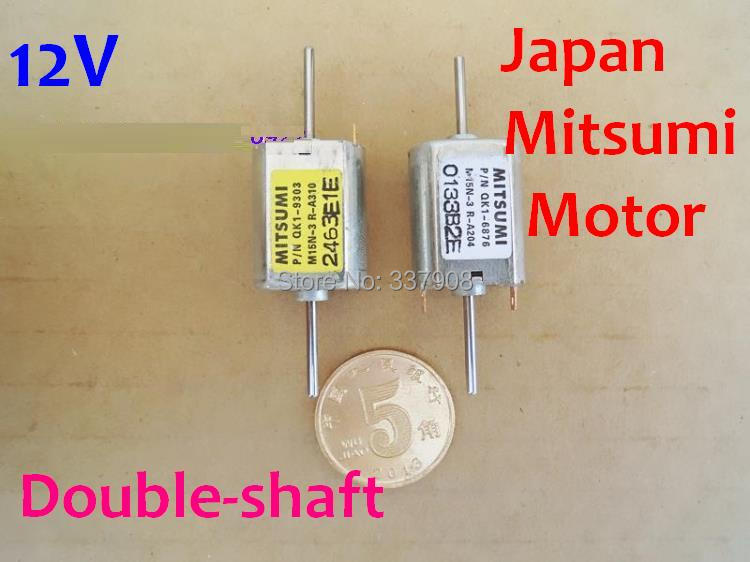 20PCS Japan Mitsumi 12V DC 12*15.5MM 13500RPM 030 Micro Motor Iron Cover Double Shaft Motor With Carbon Brush