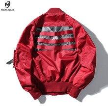 73f8ad1ca8257 2018 moda hip hop streetwear cinta casual swag Hipster hombres ropa Slim chaquetas  hombre otoño nueva chaqueta de Bombardero