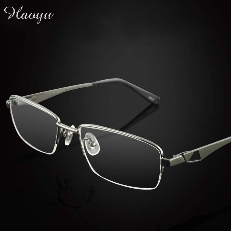 haoyu 2016 Business pure titanium frames big face Optical Frames Eyeglasses Frames Spectacle Frames free shipping