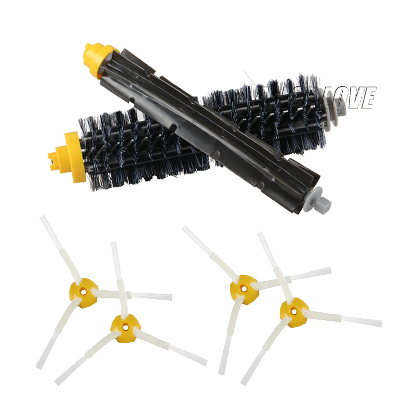 1 Bristle brush +1 Flexible Beater Brush +4 Side Brush for iRobot Roomba 600 700 Series Vacuum Cleaning Robots 760 770 780 790 flexible beater brush bristle brush for irobot roomba 500 600 700 series 550 630 650 660 760 770 780 790 vacuum cleaner parts