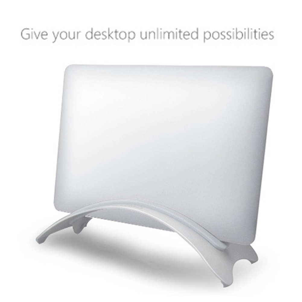 Mount Stable Laptop Stand Vertical Anti Slip Erected Holder Space Saving Desktop Accessories Aluminum Alloy For Macbook Pro Air