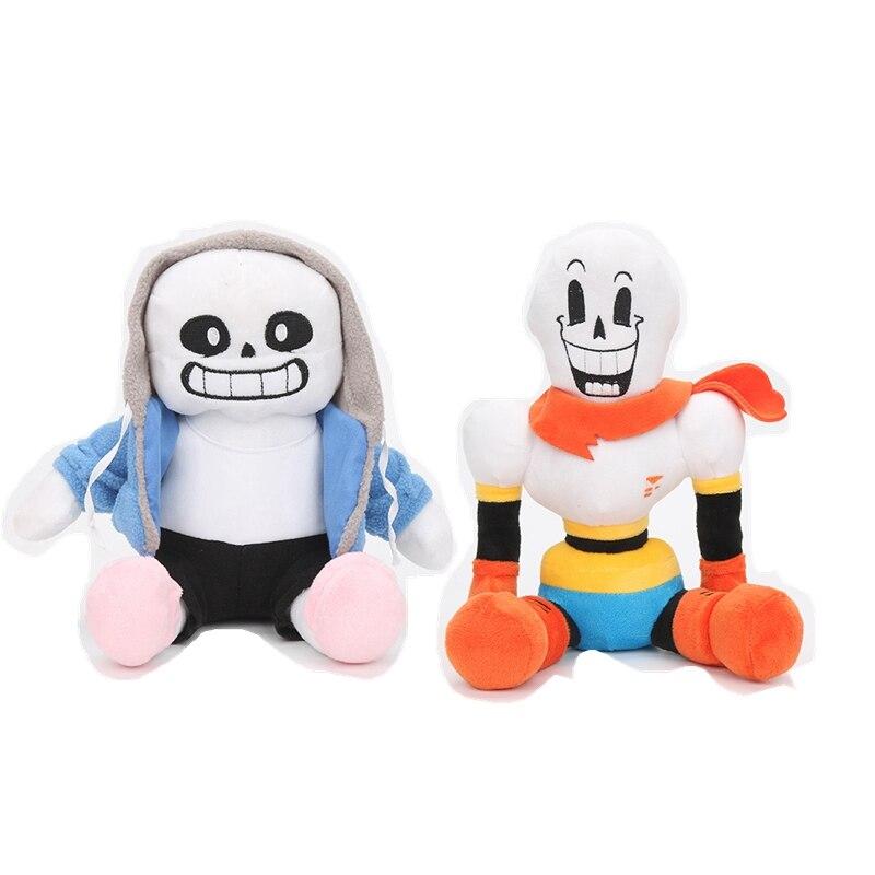2pcs/set 30cm anime Undertale Plush Toys Undertale Sans Papyrus Asriel Toriel Stuffed Plush Toys Doll for Kids Children gift(China)