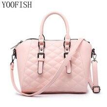 YOOFISH  Women Handbag Female PU Leather Bags Handbags Ladies Portable Shoulder Bag Office Hobos Totes LJ-0630