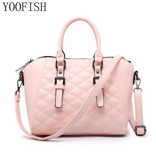 d6fe613177b YOOFISH Women Handbag Female PU Leather Bags Handbags Ladies Portable  Shoulder Bag Office Ladies Hobos Bag Totes LJ-0630