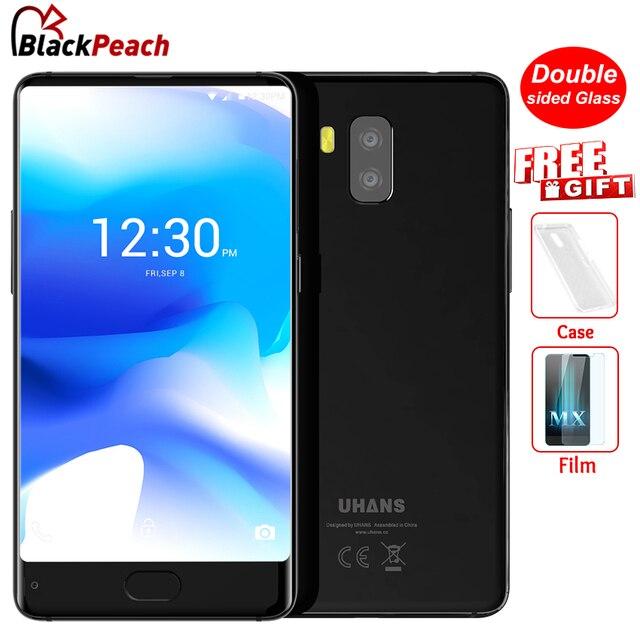 UHANS Bezeless MX 3G Smartphone de 5.2 pulgadas HD MTK6580 Quad A Core Android 7.0 2 GB + 16 GB 3000 mAh 8MP Cámaras Duales Traseras Móvil teléfono