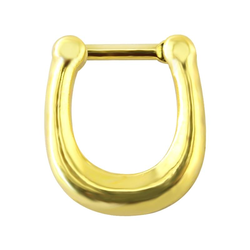 Gold Titanium 6mm Smaller Little Tiny Horseshoe Ring ... |Septum Piercing Horseshoe Ring