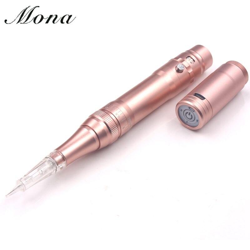 1pcs Rose Gold Eyebrows Tattoo Machine Wireless Permanent Makeup Tattoo Pen Rechargeable Tattoo Gun For Permanent