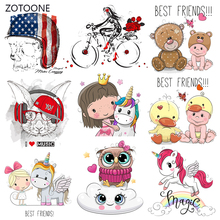ZOTOONE Stripes Patches Set Iron on Transfer Cute Dog Flag Patch for T-shirts Girl Kid Clothing DIY Thermo Stickers Clothes G