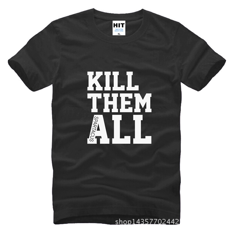 The Walking Dead KILL THEM ALL Tištěné Pánské Pánské Tričko Tričko Móda 2015 Nové O Neck Bavlněné tričko Tee Camisetas Hombre
