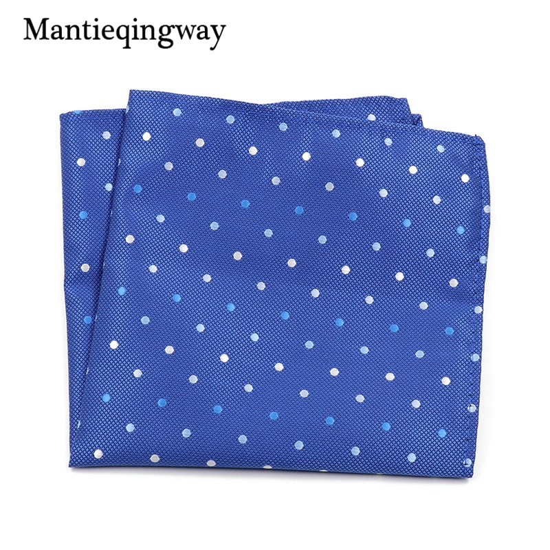 Mantieqingway Mens Clothing Accessories Handkerchief Polka Dots Pocket Square Wedding Wedding Hankies For Men Brand Pocket Towel