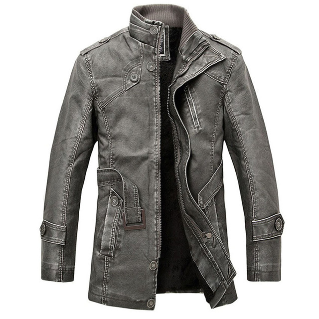 High Quality Thicker Winter Leather Jacket Men Mens Leather Jackets And Coats Veste Cuir Homme Chaqueta Cuero Hombre 120