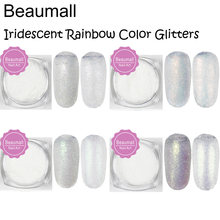 2g/pot ,0.05mm (1/500 002) Iridescent Rainbow Multicolored Glitters Powders Dusts For Nail ,Tatto Art,Make Up.(China)
