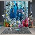 Занавеска для душа на заказ  занавеска для ванной  перегородка 1 5x1 8 м 1 8x1 8 м 1 8x2 м  морской дельфин  рыбный коралл