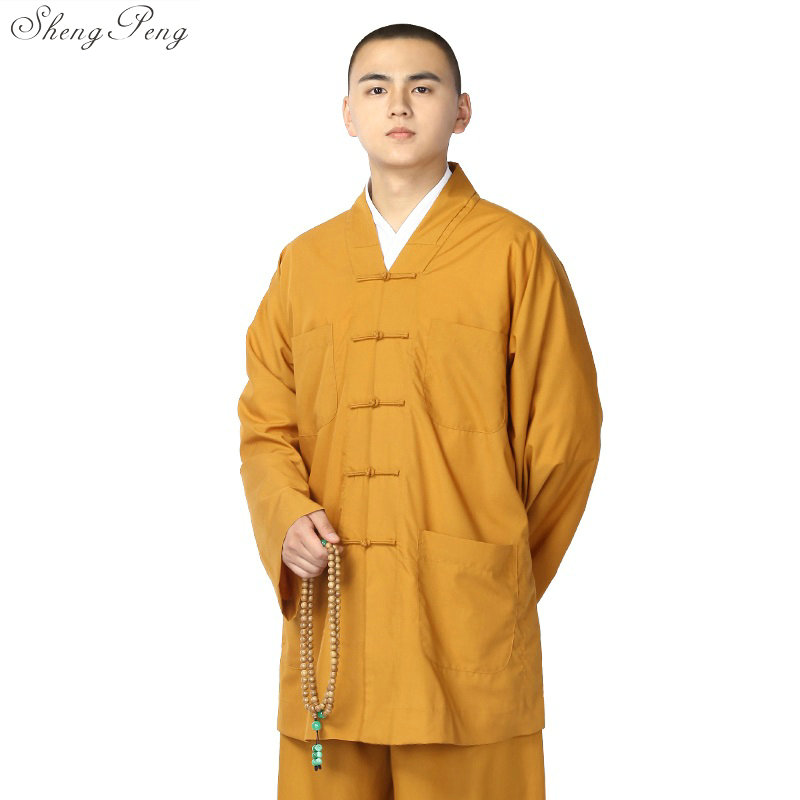 Buddhist monk robes chinese shaolin monk robes men shaolin monk clothing traditional shaolin monk uniform Q263
