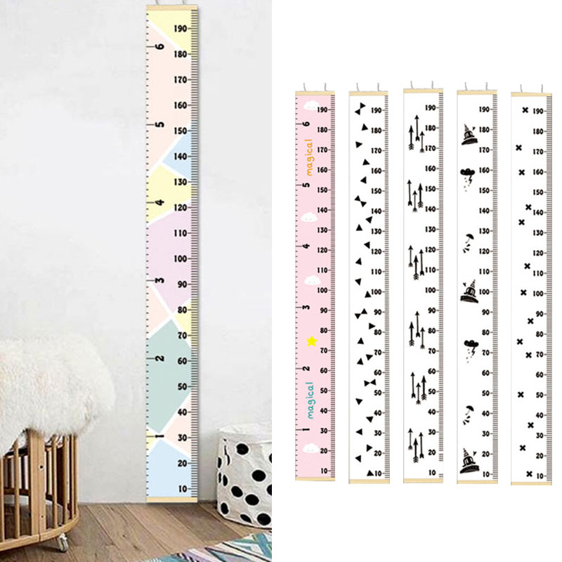 Growth Chart Hanging Wall Height Chart Rule For Boys Girls Measuring Height
