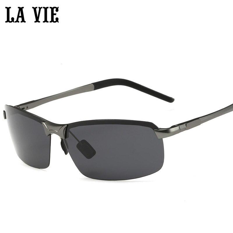 LA VIE polarizované brýle bez ráfku Pánské zrcadlové povrchové úpravy z lehkých slitin. Sluneční brýle LV8143