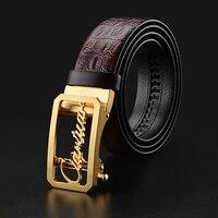 2017 Famous Brand Belt Men Top Quality Genuine Luxury Genuine Leather Belts For Men Strap Metal