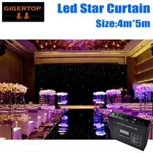 4M*5M LED Star Curtain RGBW/RGB Colored LED Stage Backdrop LED Star Cloth for Wedding Decoration 90V-240V with DMX Controller