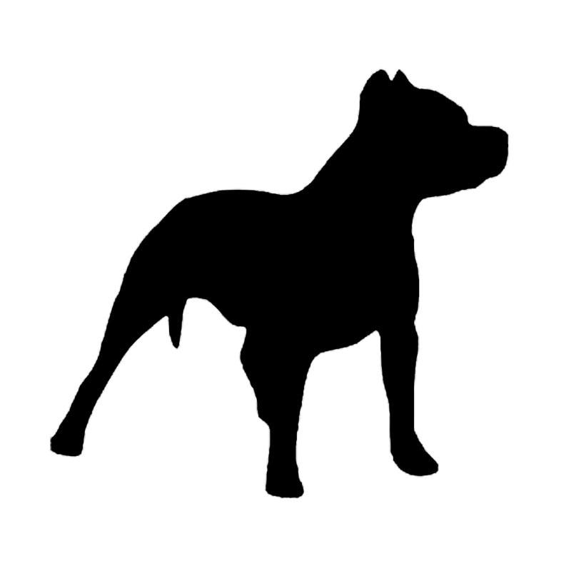 14*13,2 см питбулл собака Силуэт украшения автомобиля виниловая наклейка забавная Милая наклейка на автомобиль животное черный/серебристый ...
