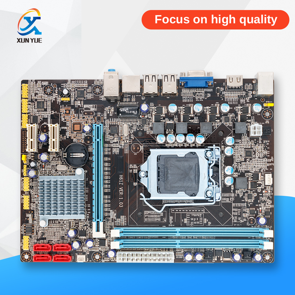100% OEM New H61 Desktop Motherboard H61 LGA 1156 DDR3 16G For i3 i5 i7 All-Solid Micro-ATX On Sale asrock h61m vg4 original used desktop motherboard h61 socket lga 1155 i3 i5 i7 ddr3 16g usb2 0 micro atx