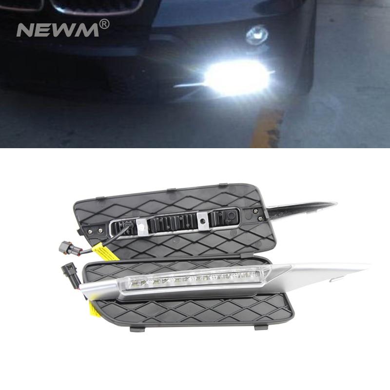 Xenon White 18W LED Daytime Running Lights DRL For BMW 2007-10 X5 (E70 Pre-LCI) 2pcs lot xenon white 18w high power led daytime running light drl lamps error free for 2007 2010 pre lci bmw e70 x5