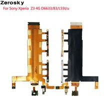 For Sony Xperia Z3 4G D6633 Side Power On Off Volume Key Button Switch Flex Cable With Microphone Camera Shutter Vibrator Parts