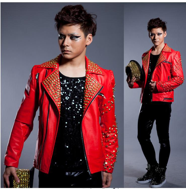 Compare Prices on Mens Red Leather Jacket- Online Shopping/Buy Low