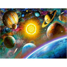 diamond painting universe,5d   full drill square,5d 5d square