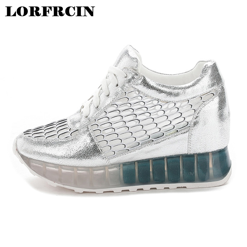 2017 Fashion Casual Women Shoes Height Increasing Ladies Shoes Mesh Breathable Platform Shoes Lace-up Female Shoes women sandals 2017 summer style shoes woman wedges height increasing fashion gladiator platform female ladies shoes casual