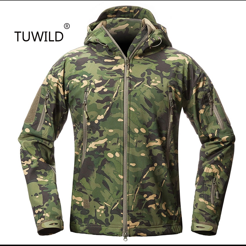 Outdoor TAD Men s Tactical Soft Shell Jacket Waterproof Shark Skin Fight Outdoor Hunting Suit Camping