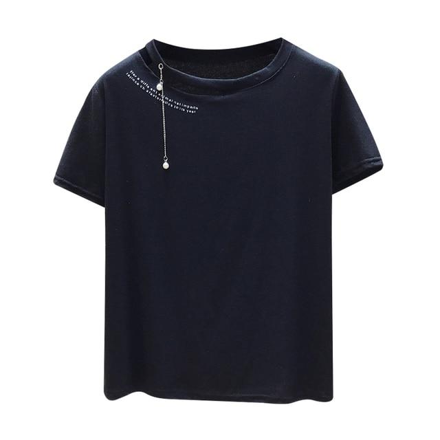 Leaky Shoulder TShirt Short...