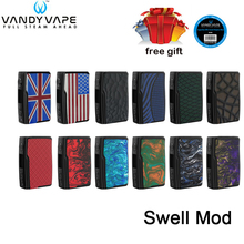 где купить Original Vandy Vape Swell Mod 188W box mod powered by dual 18650 batteries fit Swell Tank waterproof PCBA E-Cigarette kit дешево