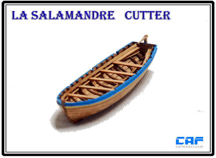 NIDALE model Laser-cut wood Antique Ship model kit Sacle 1/48 La Salamandre Ship's life boat model kit