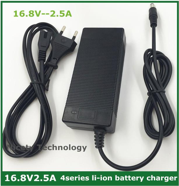 16.8V2.5A 16.8 V 2.5A li-ion del cargador de batería de litio de 4 series 14.4 V 14.8 V batterry batería de polímero de iones de litio buena calidad