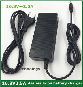 Image 1 - 16.8V2.5A 16.8V 2.5A lithium li ion  battery charger for 4 series 14.4V 14.8V lithium li ion polymer batterry pack good quality