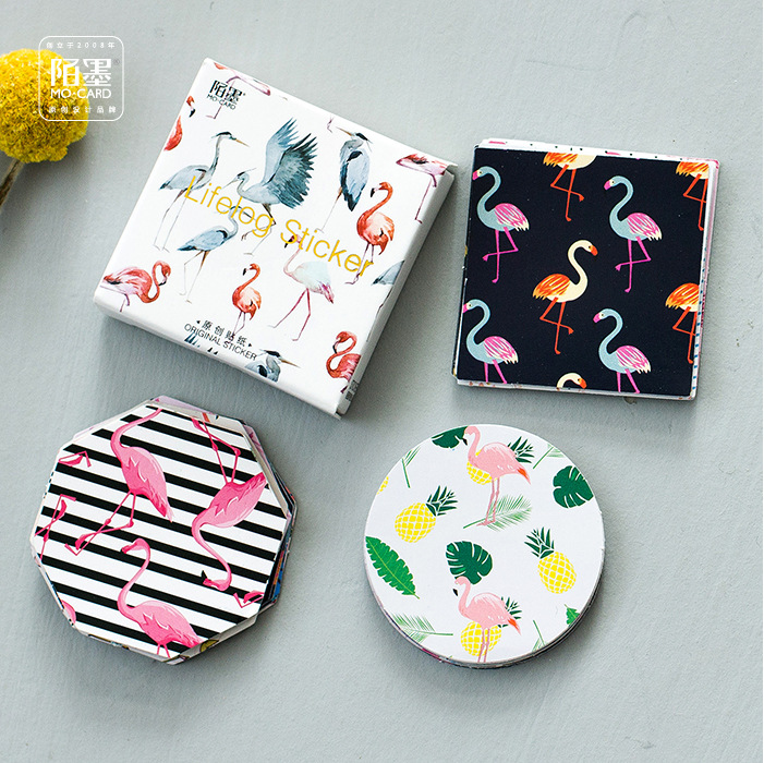 45Pcs//lot Flamingo Paper Diy Diary Scrapbooking Label Sticker Stationery Decor