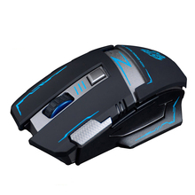 V5 2.4GHz Wireless Rechargeable Silent Mute Optical Usb Gaming Mouse Mice 2400DPI Ergonomic Gamer Mouse For PC Laptop Computer