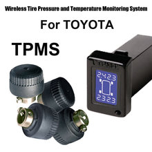 Occupation Automobile Auto TPMS Tyre Strain Monitoring System for Toyota with 4pcs Exterior sensor