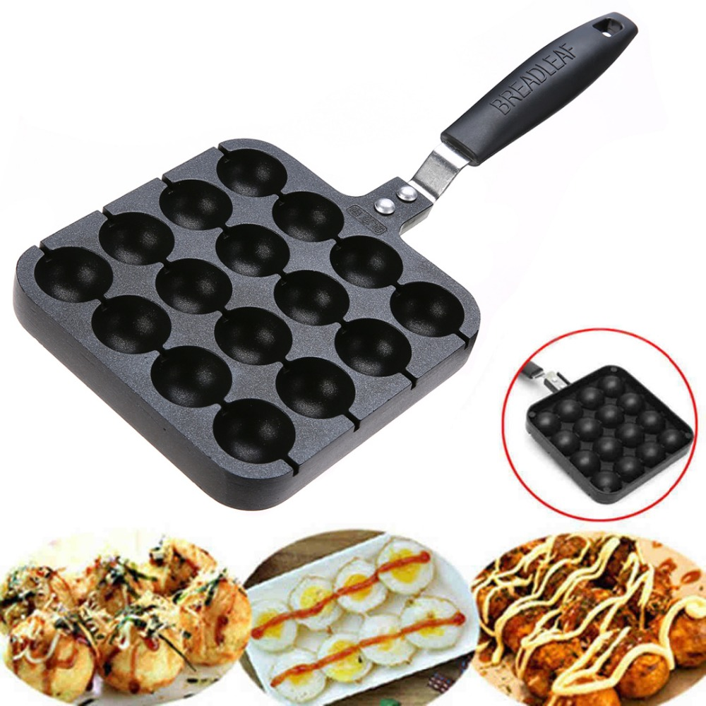 Non stick Takoyaki Pan Cake Maker with 16 Molds Octopus pan dekok square cake pan