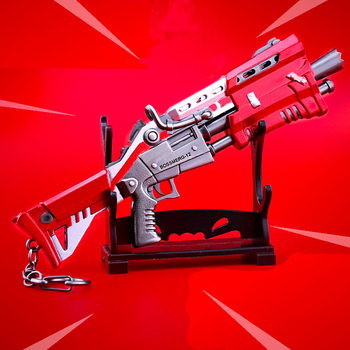 2018 HOT Fortress Night Keychai Toy Battle Royalen Action Figure From FORTNIT Scar Rifle Weapon Model Alloy Weapons PUBG