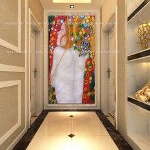 Художественная портретная живопись маслом семья картина Густава Климта настенная художественная картина домашний декор бронзовые картины наборы для гостиной