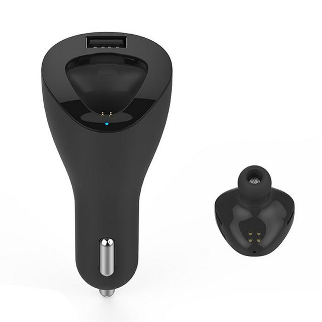 Roman R6000 2 em 1 Kit Bluetooth Car Kit mãos livres carregador adaptador Bluetooth + fone de ouvido para Iphone Pad IOS Android relógio inteligente