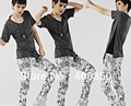 Hottest Super Star Men's Stylish Snow Leopard Quality Skinny Pant, Costume Dance Trousers Free Shipping